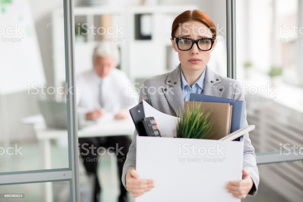 Manager fired stock photo