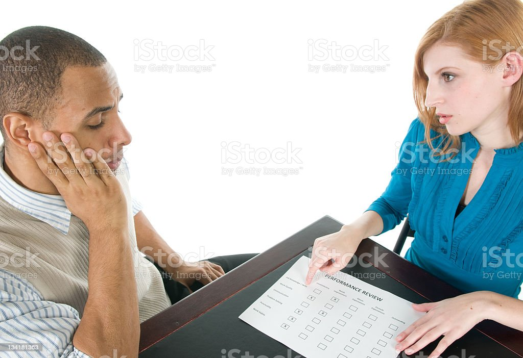Manager Giving Performance Review royalty-free stock photo