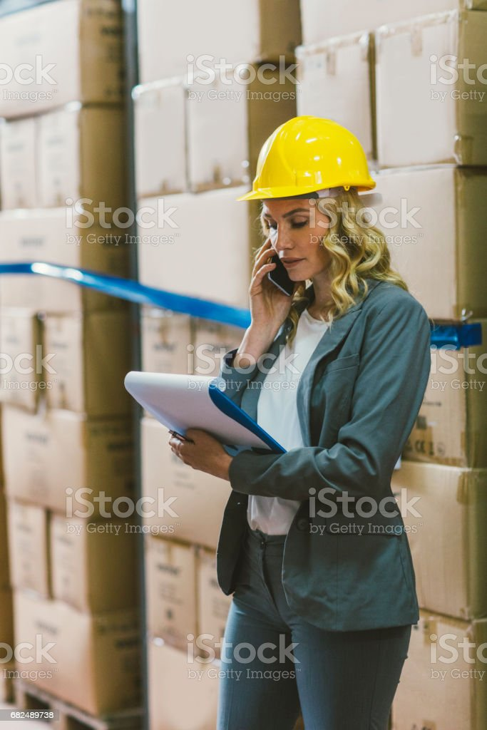 Manager in warehouse foto stock royalty-free