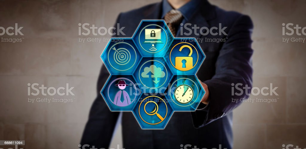 Manager Initiating Rapid Incident Response stock photo