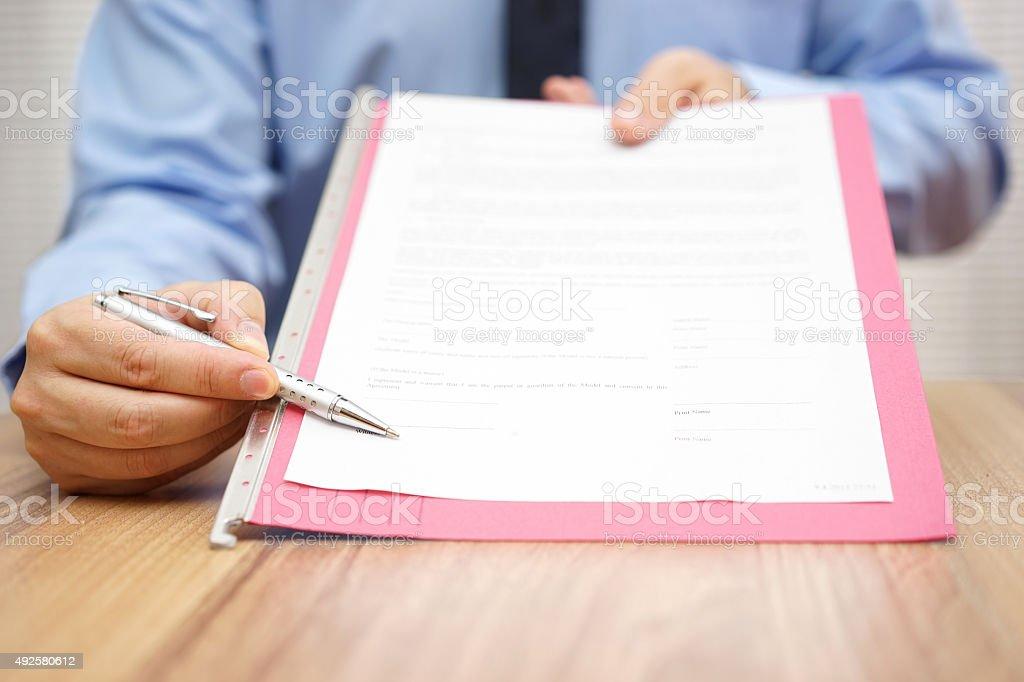 manager angezeigt wird, eine legal document – Foto