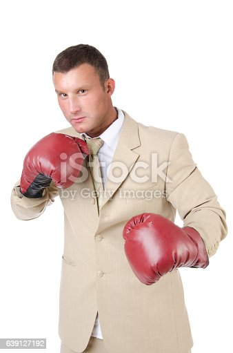 464164875 istock photo Manager. Office fight. 639127192
