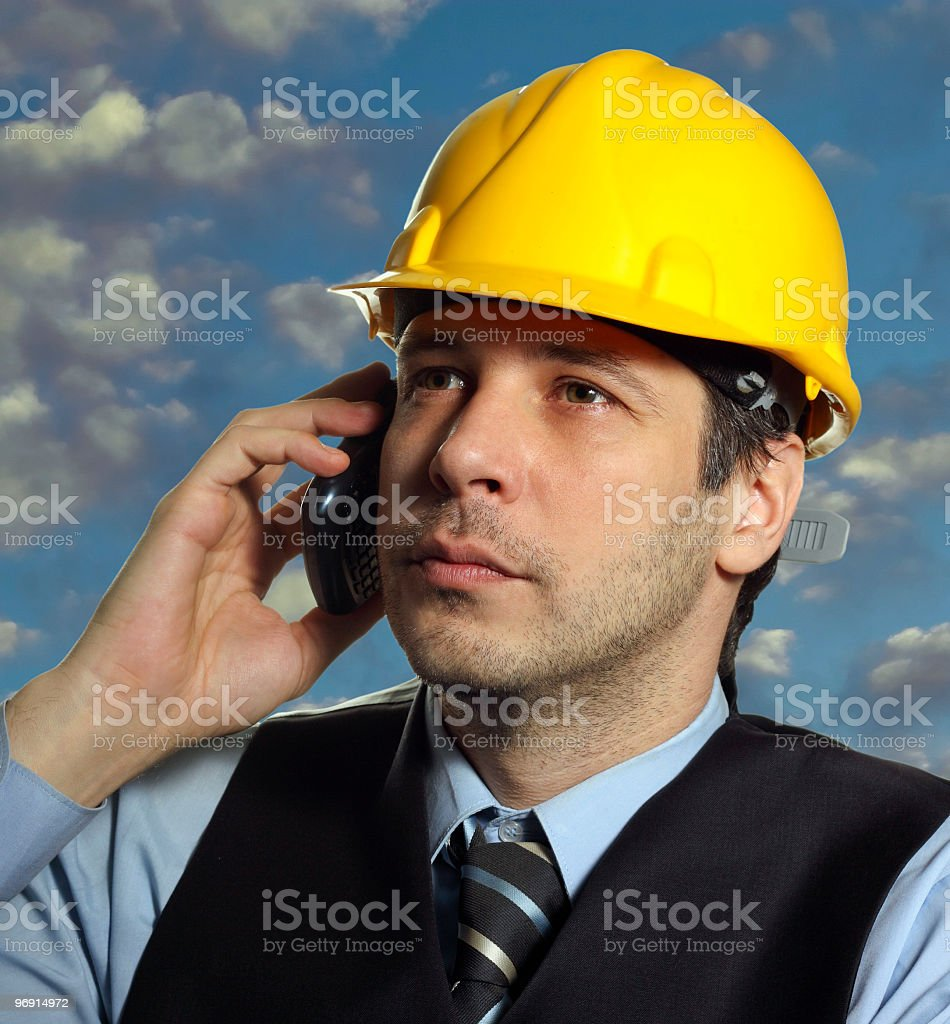 Manager on the phone royalty-free stock photo