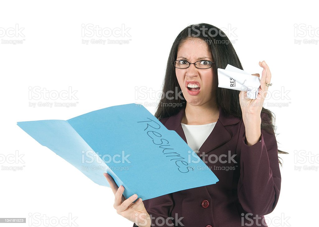 Manager Reviewing Resumes stock photo