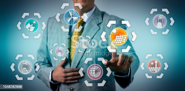 istock Manager Selecting Photovoltaics In The Energy Mix 1048282956