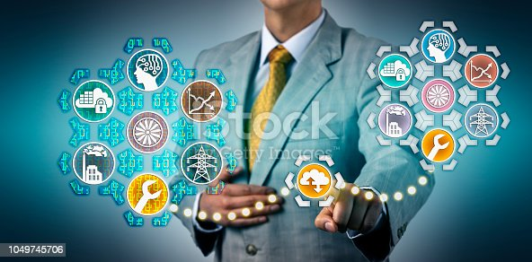 istock Manager Simulating Maintenance Via Digital Twin 1049745706