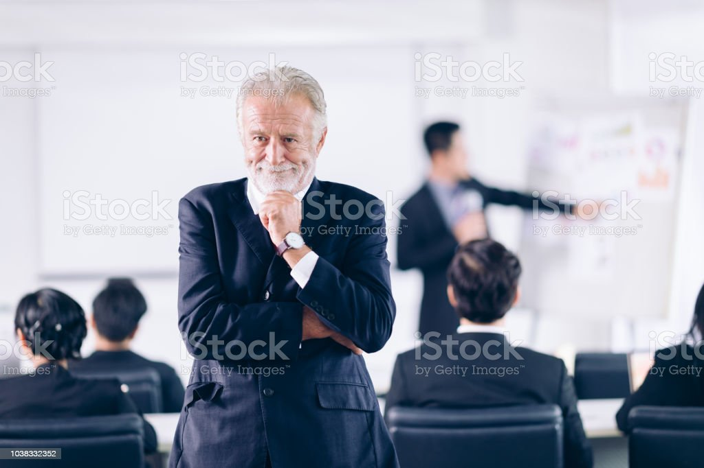 Manager Thinking in conference room.Successful Cooperation...