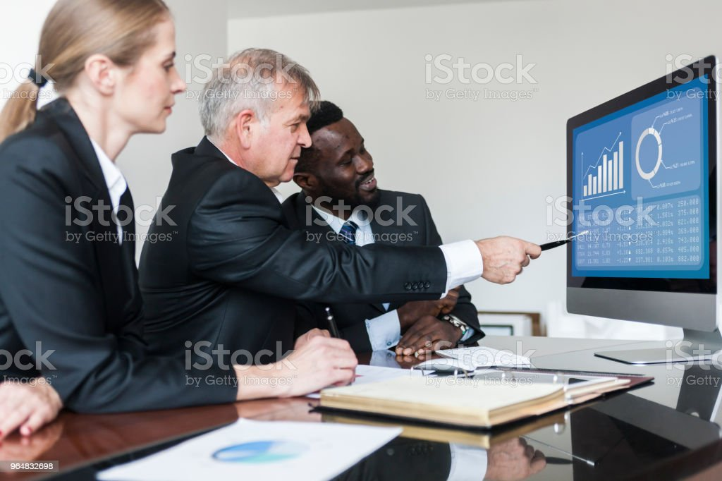Manager training new employees royalty-free stock photo