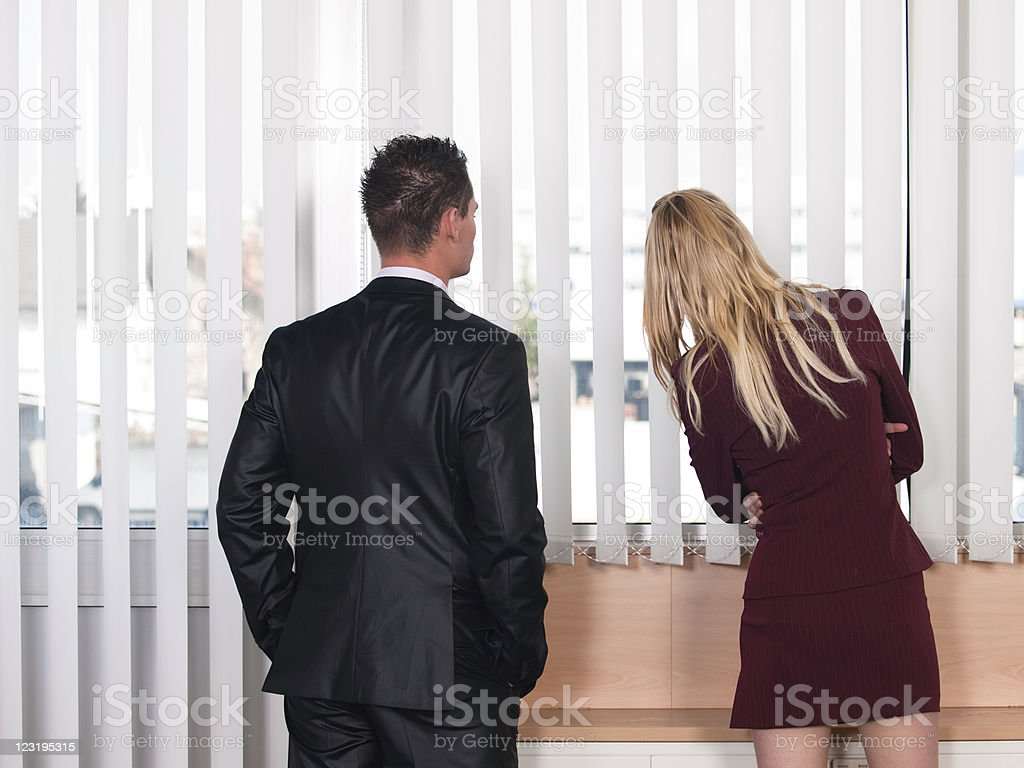 Manager mit seiner Sekretärin – Foto