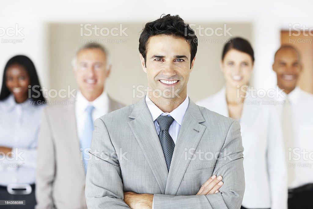 Manager mit seinem team – Foto