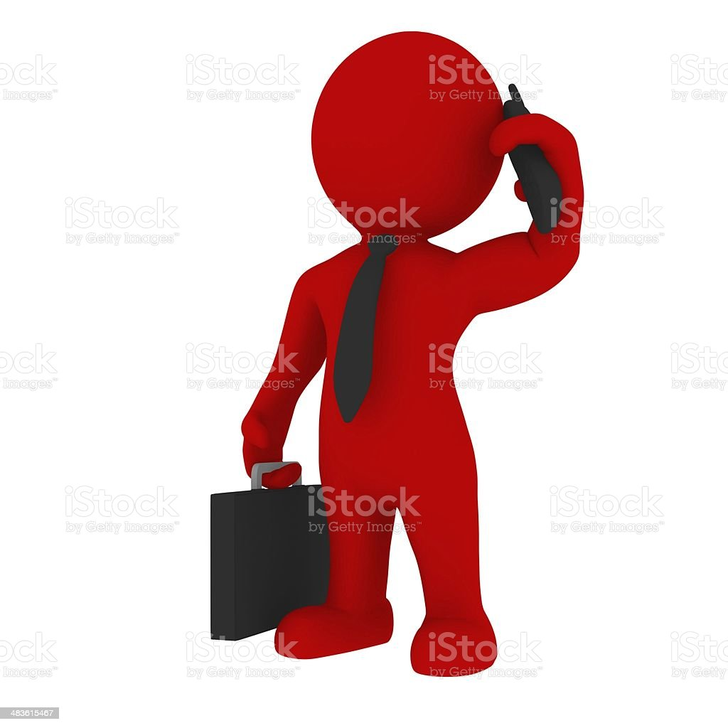 Manager with phone stock photo