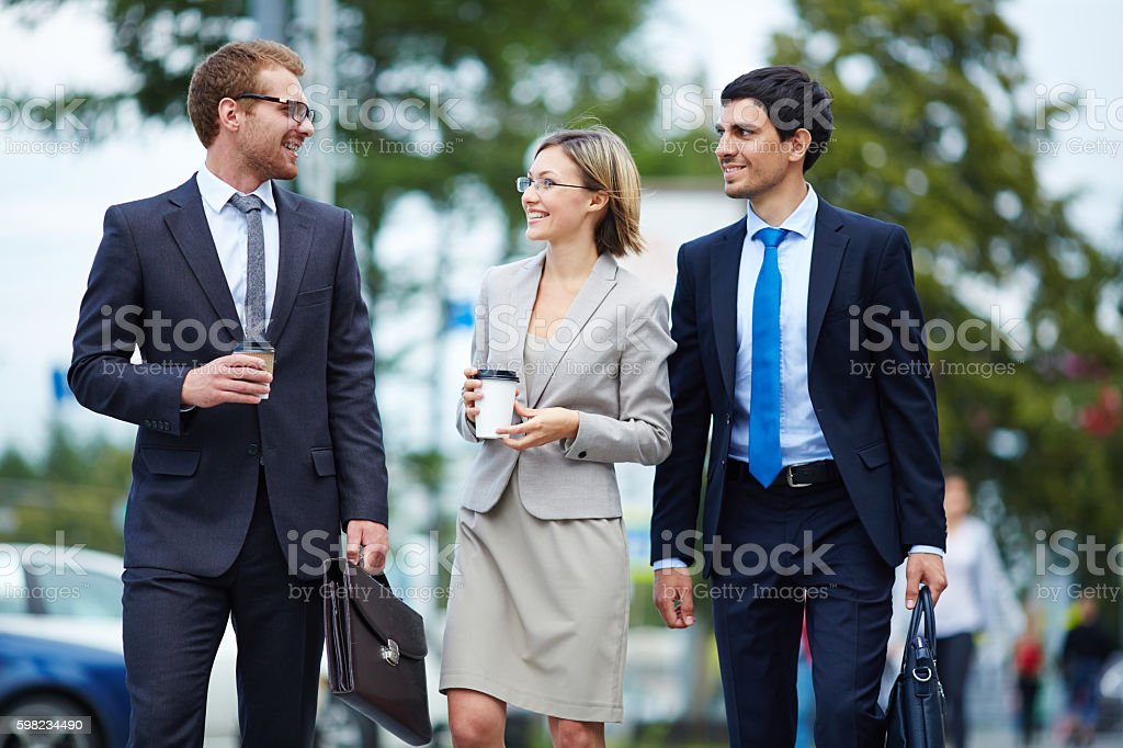 Managers at break foto royalty-free