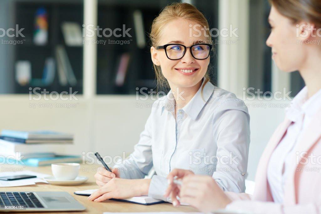 Manager sprechen Lizenzfreies stock-foto