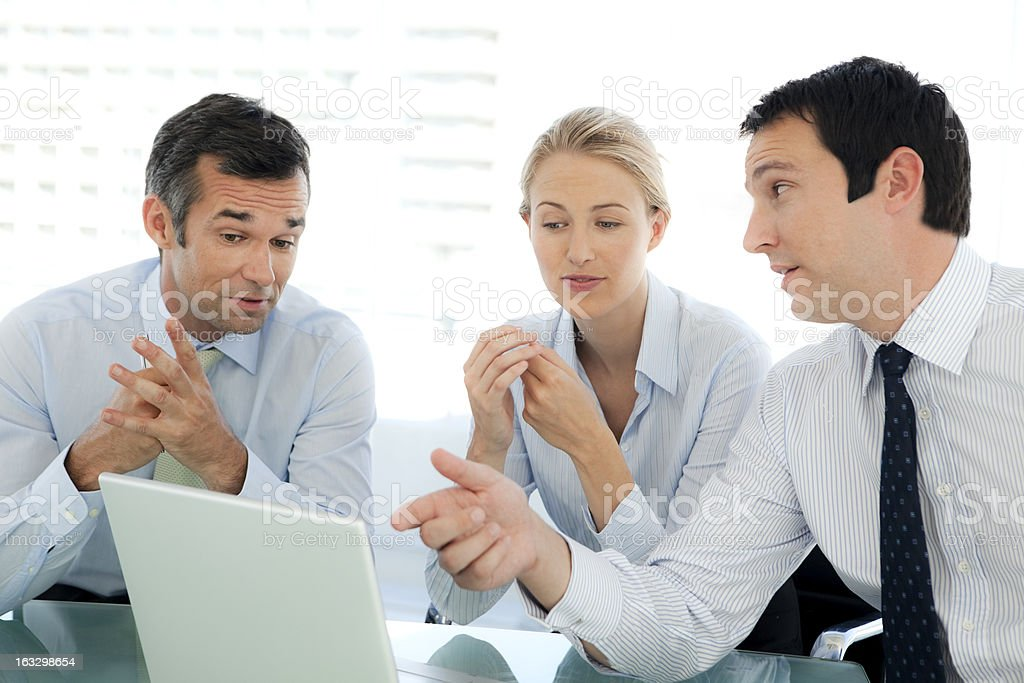 Managers working together stock photo