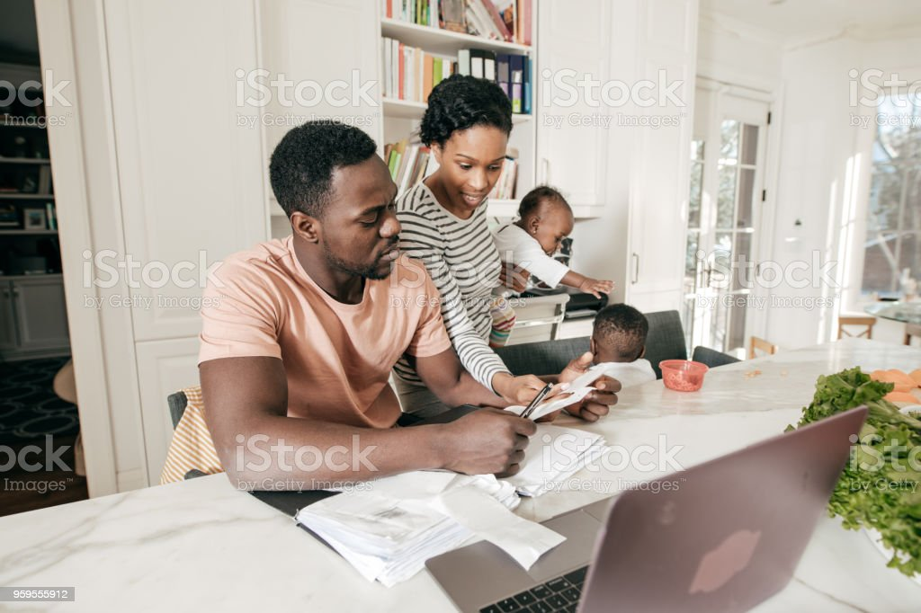 Managing a family business stock photo
