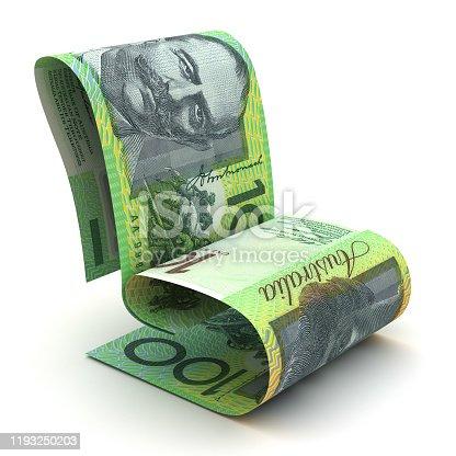 Managing Australian Dollar (Isolated on white background)