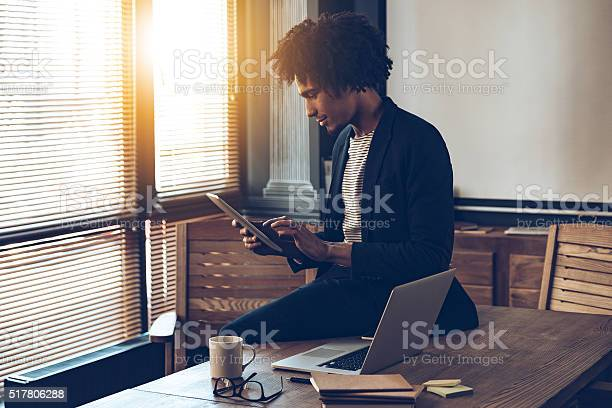 Managing His Timetable Stock Photo - Download Image Now