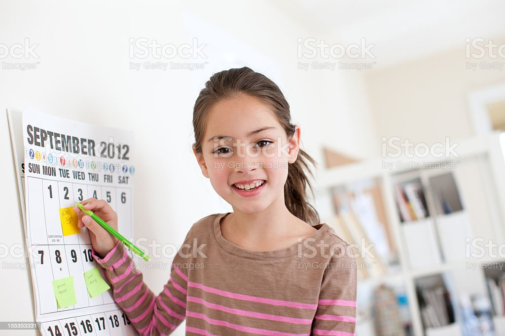 Managing school schedule royalty-free stock photo