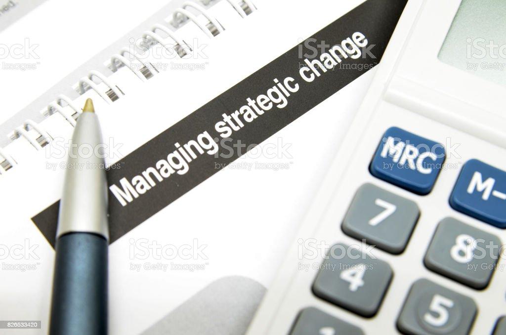 Managing strategic change stock photo