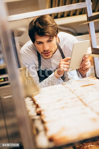istock Managing the bakery 643625508