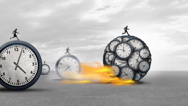Managing Time Success stock photo