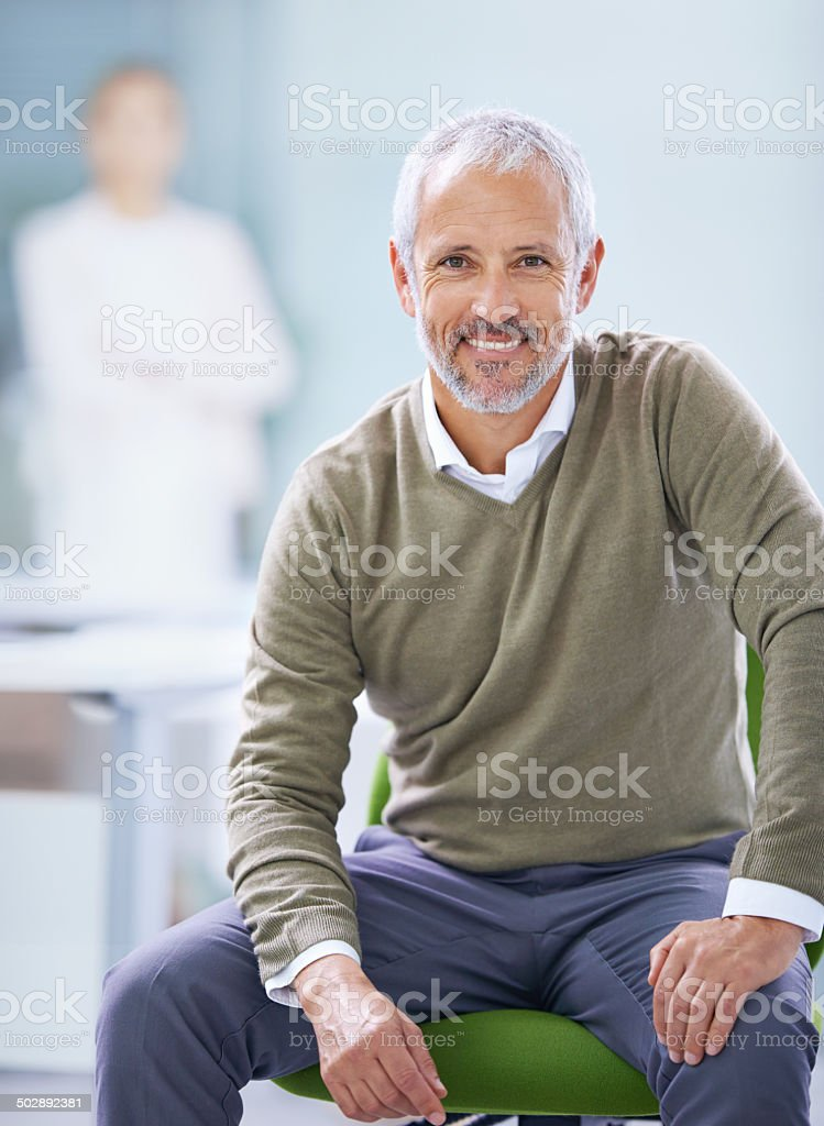 Managing with a smile stock photo