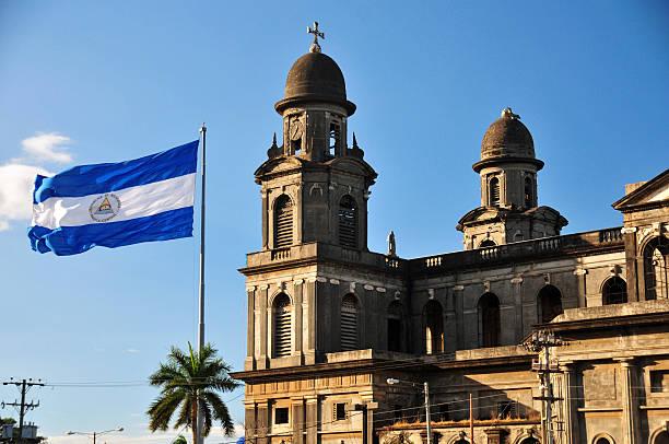 Bandera De Nicaragua - Banco de fotos e imágenes de stock - iStock