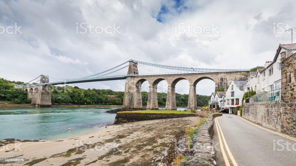 Manai Bridge, Noord-Wales, UK foto