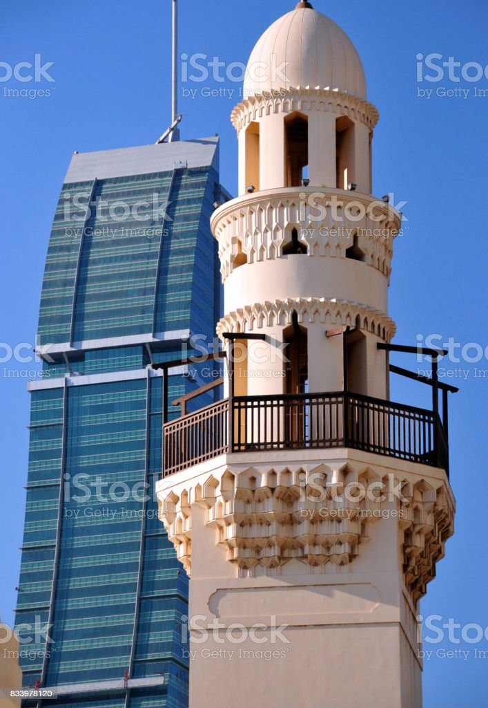 Manama, Bahrain - old and new stock photo