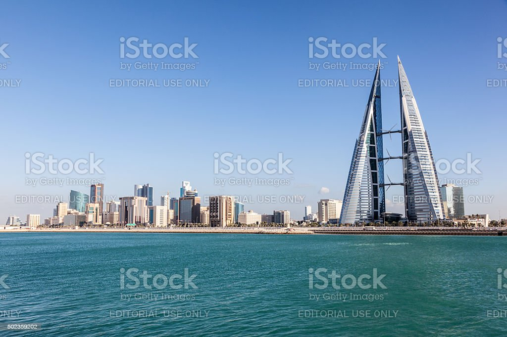 Manama skyline, Bahrain stock photo