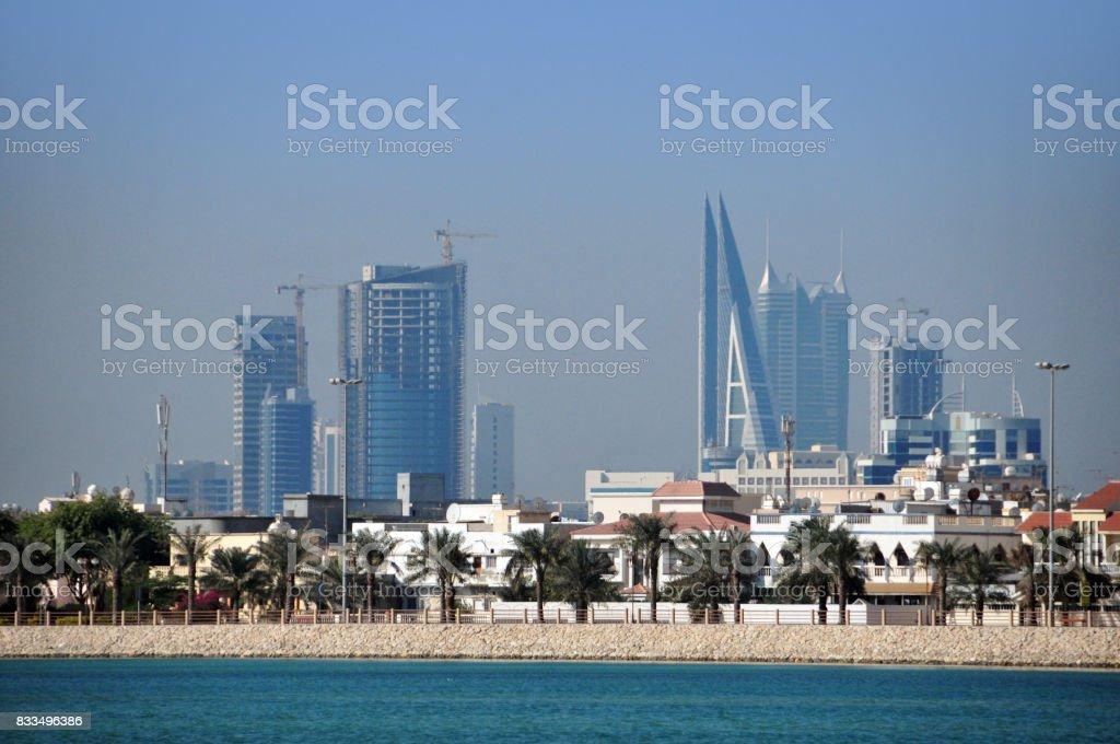 Manama skyline, Bahrain stock photo