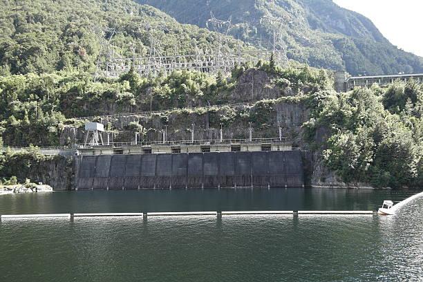 Manapouri Kraftwerk stock photo