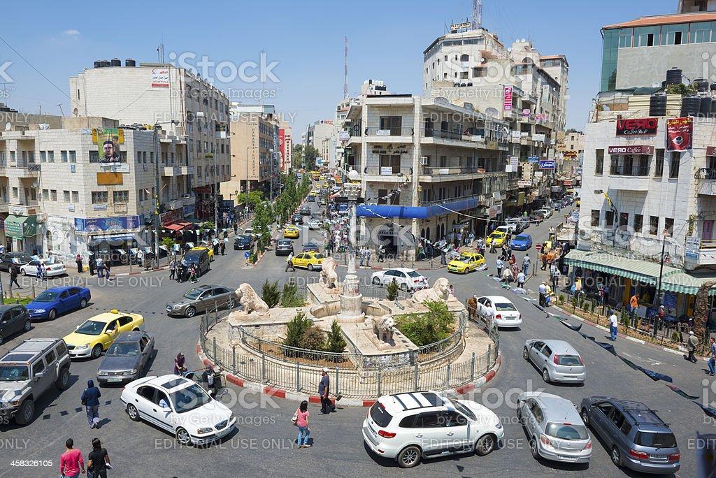 Manara in central Ramallah, West Bank, Paelstine royalty-free stock photo