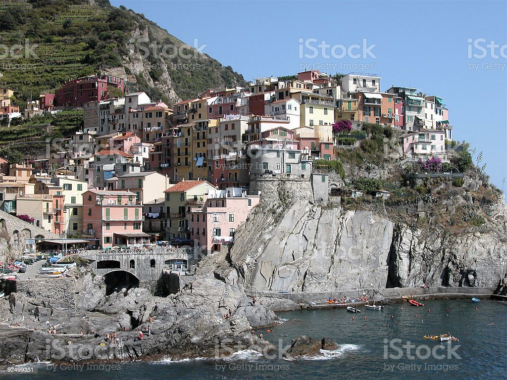 Manarola Cinqua Terra  Italy royalty-free stock photo