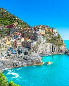Beautiful view of Manarola, Cinque Terre