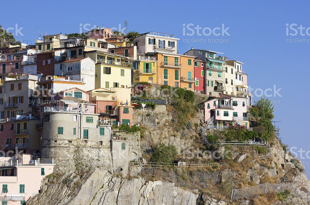 Manarola on the Cinque Terre, Italy royalty-free stock photo