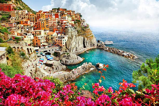 manarola, cinque terre, italia - la spezia foto e immagini stock