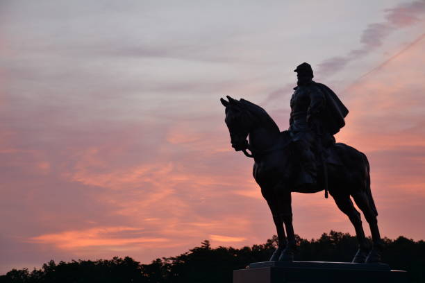 Manassas National Battlefield park National Park, located in Manassas Virginia american civil war stock pictures, royalty-free photos & images