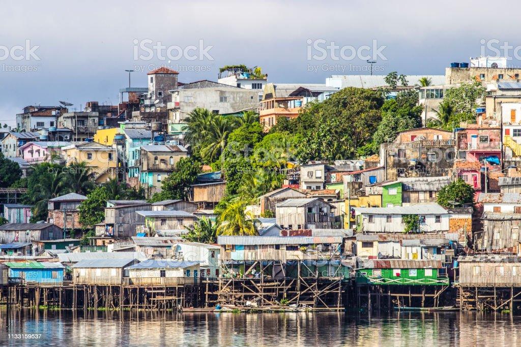 Manaus city stock photo