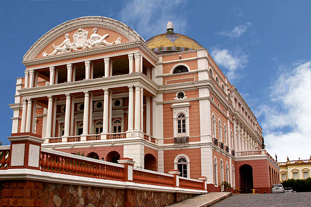 Manaus Opera House In the heart of Brazil's Amazon rainforest stands the great Manaus Opera House.  The first performance in the theatre was performed in December of 1896. manaus stock pictures, royalty-free photos & images