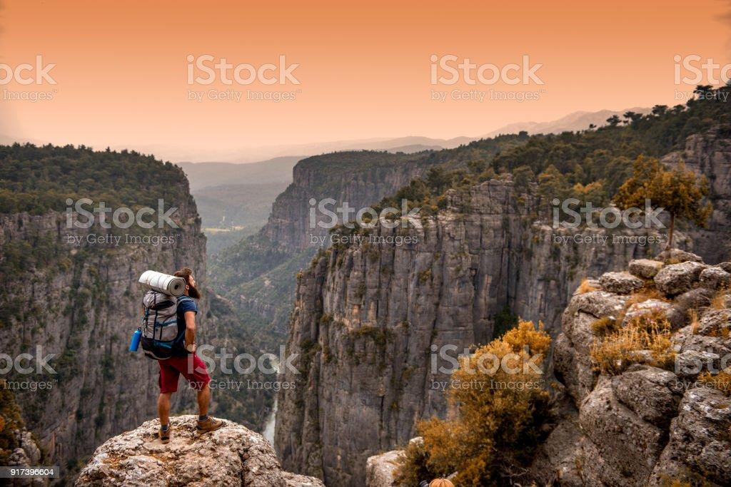 Manavgat, Antalya - Turkey. May 01, 2017. Discover !. Tazi Canyon ( Bilgelik Valley )  in Manavgat, Antalya - Turkey. stock photo