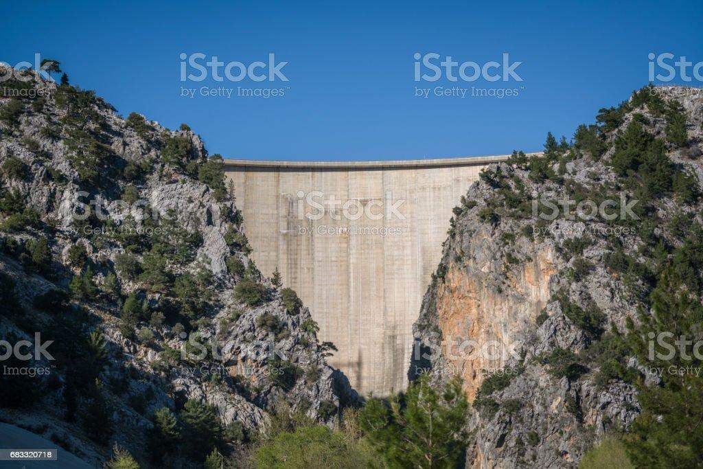 Manavgat dam green canyon royalty-free stock photo