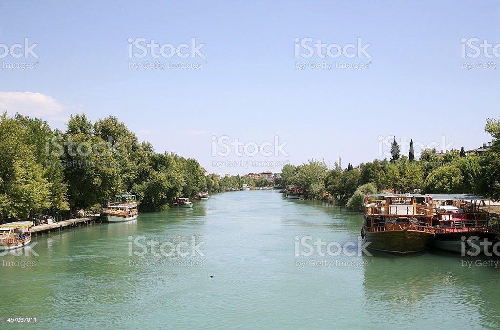Manavgat river stock photo