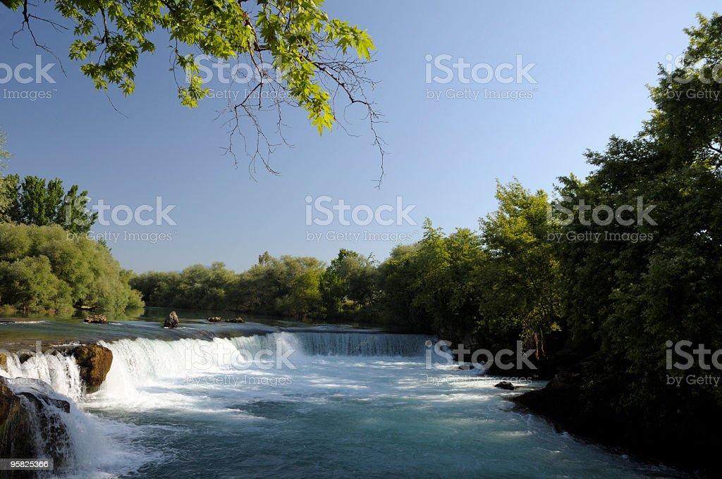 Manavgat Waterfall, Antalya, Turkey stock photo