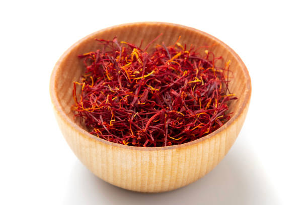 Mancha Saffron stock photo