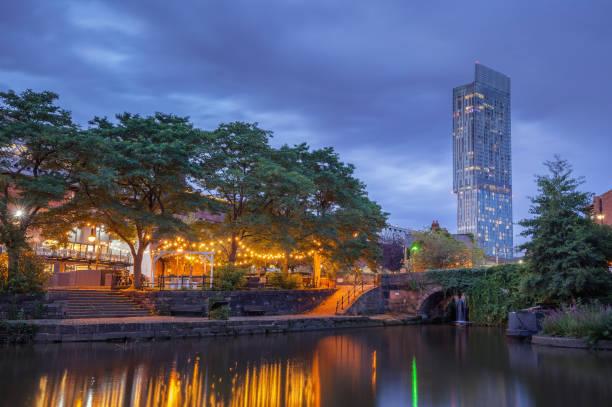 Manchester Castlefied Neighbourhoods. stock photo