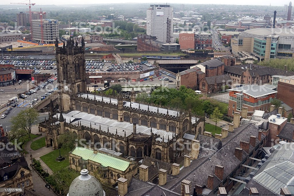 Manchester Cathedral royalty-free stock photo
