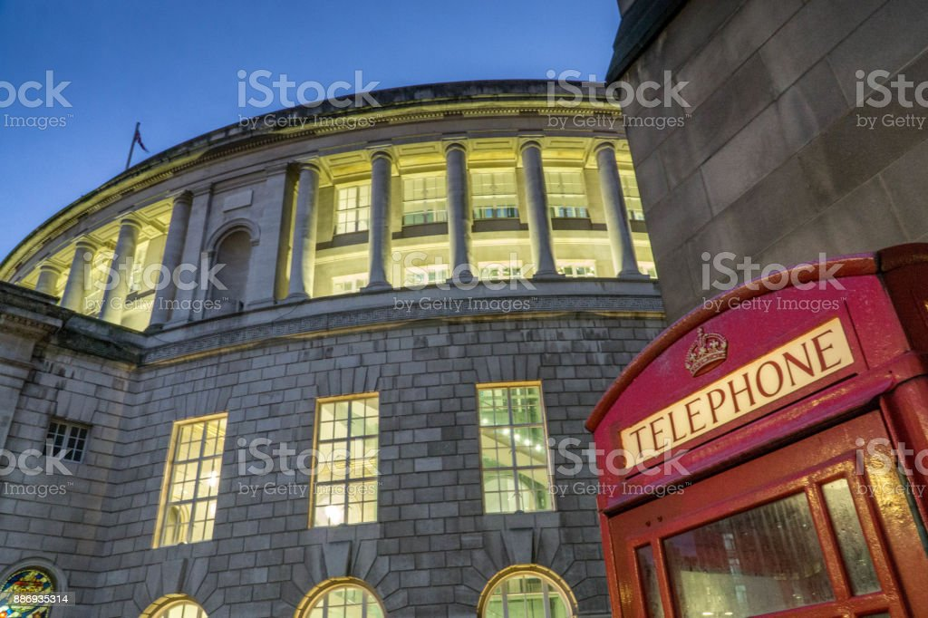 Manchester Central Library stock photo