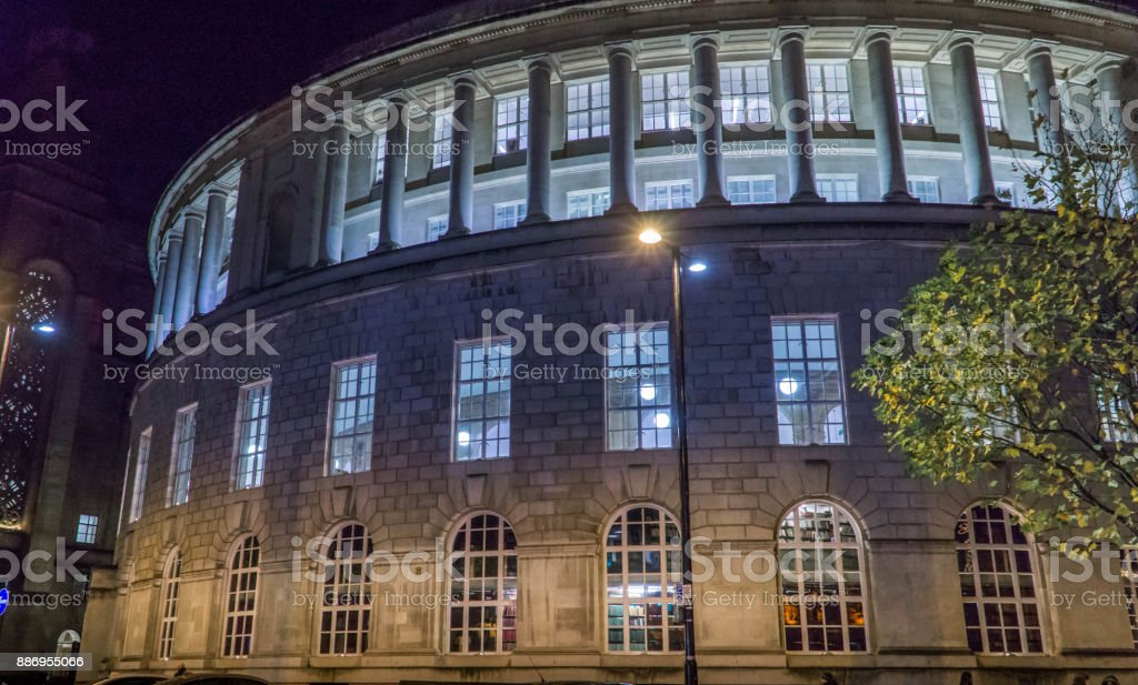 Manchester Central Library - Side View stock photo