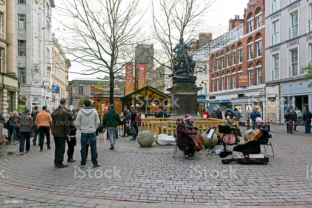 Manchester Christmas Market Stock Photo - Download Image Now